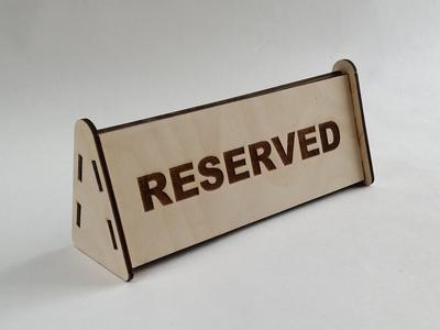 "Табличка ""reserved"""